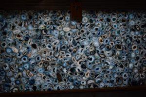 Blue Agate Classic 2cm x 120 x 60 Translucent