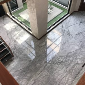 Flooring Tiles of grey marble in Palm Beach