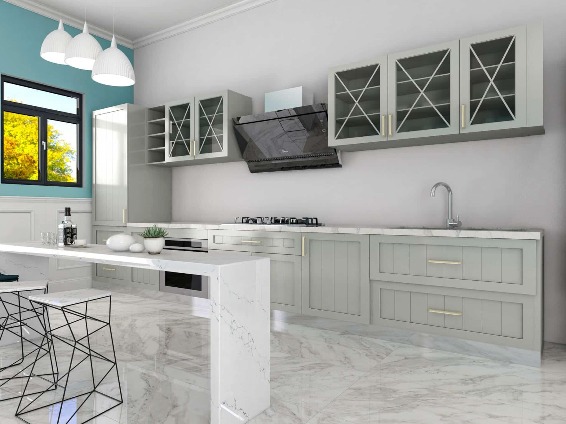 Kitchen Glass Cabinets
