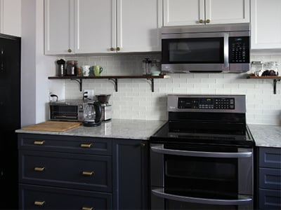 Black Kitchen Base Cabinets